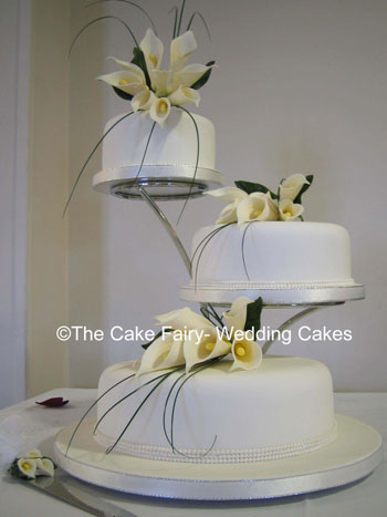 3 tier wedding cake stand offset gumpaste flowers on gum paste sprays and 10317